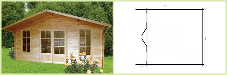 gartenhaus schweden 29 wandst rke 28mm in dietikon. Black Bedroom Furniture Sets. Home Design Ideas