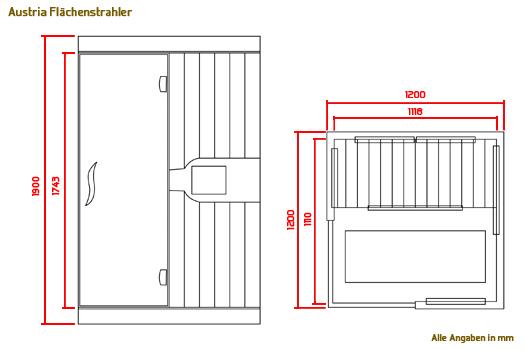 infrarotkabine austria fl chenstrahler in dietikon. Black Bedroom Furniture Sets. Home Design Ideas