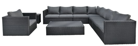 Lounge- Set Belmont, Wicker schwarz