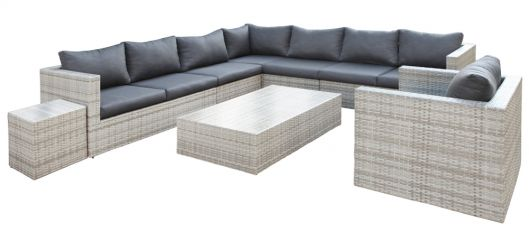 Lounge- Set Greenwood, Wicker grau meliert