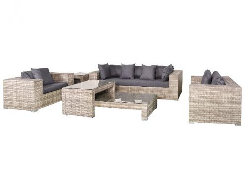 Lounge- Set Hamilton, Wicker grau meliert